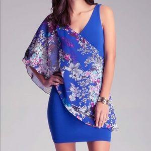 Bebe floral asymmetrical dress